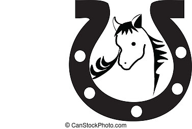Horseshoe silhouette logo - Horseshoe silhouette