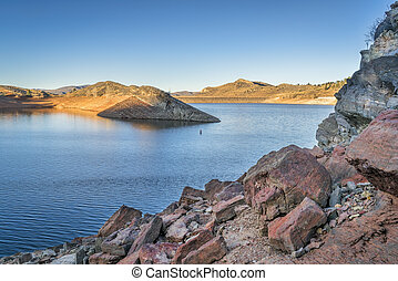 Horsetooth Reservoir with low water level - Horsetooth ...