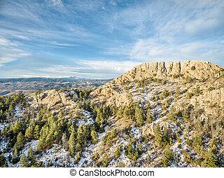 Horsetooth Rock in winter