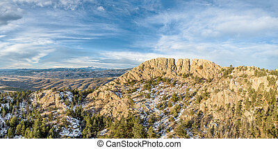 Horsetooth Rock panorama - panoramic landscape of Horsetooth...