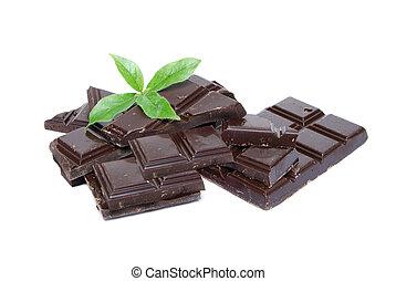 hortelã, chocolate