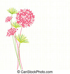 hortensia, fleur, printemps, fond