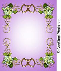 hortensia, floral, lavendel