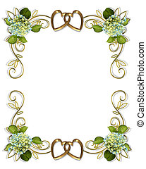 hortensia, floral rand