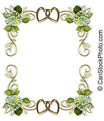 hortenzia, floral határ