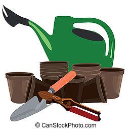 horticulture - Plastic watering pots