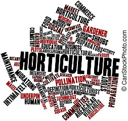 Horticulture - Abstract word cloud for Horticulture with...