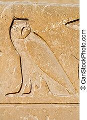 horus, owl hieroglyph