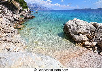 horvátország, adriai, -, tenger