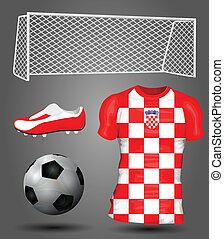 horvátország, futball, mez