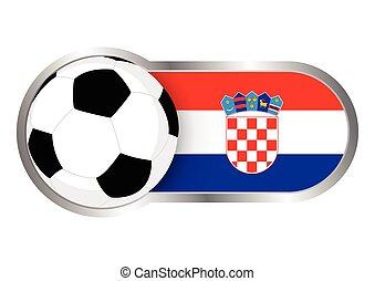 horvátország, jelvény, futballcsapat