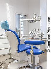hos, den, tandläkare