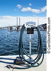 Hose at harbour