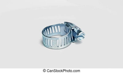 Hose Clamp On White Background