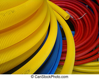 Hose - Colorful hose on a pile in three types