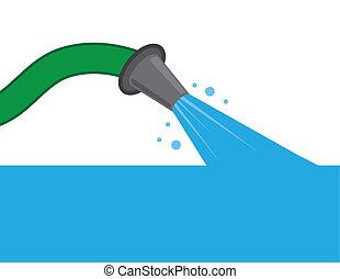 Hose Water Filling Up