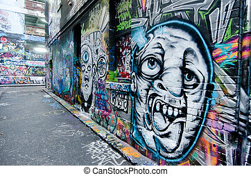 Hosier Lane - Melbourne - MELBOURNE, AUS - APR 10...