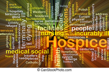 Hospice background concept glowing - Background concept...