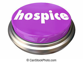 Hospice Care Button Instant Assistance Help Assistance 3d Illustration