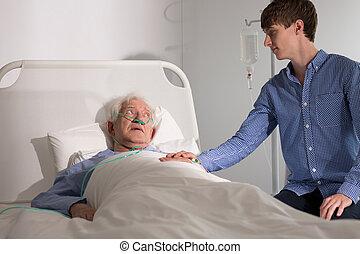 hospice, caregiver, patient, personnes agées