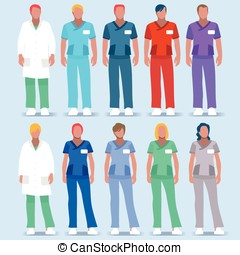 Hospital 01 People 2D - Scrubs Nursing and Physician...