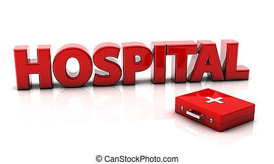 hospital, 3d