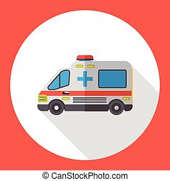 hospital ambulance flat icon