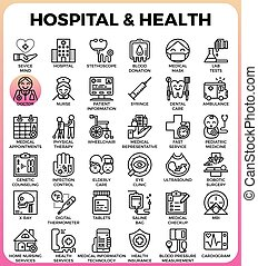 Hospital and Health concept icons
