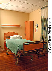 hospital bed - clean empty bed in a hospital