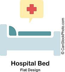 Hospital Bed Flat Illustration