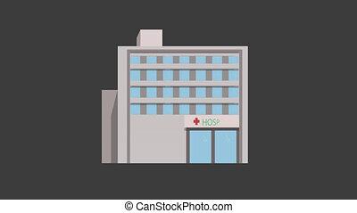 Hospital Building Animation
