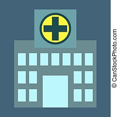 Hospital, building, clinic icon vector image, for healthcare and medical.