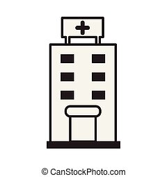 hospital building flat style icon