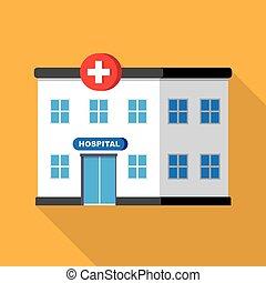 hospital building or clinic
