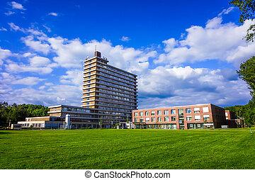hospital building.  - hospital building.