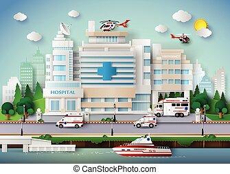 Hospital building - hospital building and emergency...