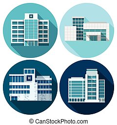 Hospital Buildings Flat