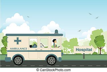 Hospital car.