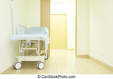 hospital chamber - Interior of a hospital corridor