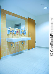 Hospital disinfection place, room used between ambulance receiving covid-19 patient and doctors section