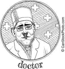 Hospital doctor profession portrait