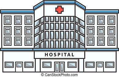 Hospital Doodle Illustration