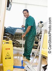 hospital, el aljofifar, sala, ordenado, piso