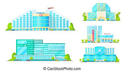 Hospital emergency and ambulance clinic buildings