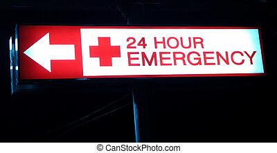 Hospital emergency sign