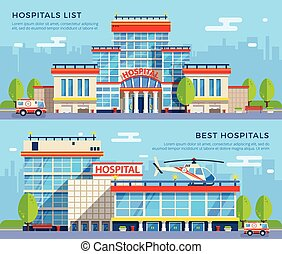Hospital Flat Banners