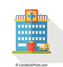 hospital flat icon