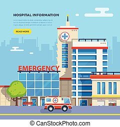 Hospital Flat Illustration