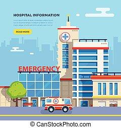 Hospital Flat Illustration