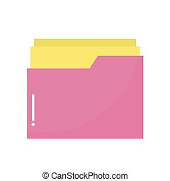 hospital folder of a pink color
